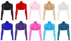 Womens-Long-Sleeved-Bolero-Cardigan-Shrug-Jacket-Top-Ladies-Size-8-28