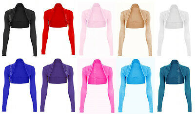Womens Maternity Long Sleeved Bolero Shrug Jacket Top Ladies Cardigan Size 8-26