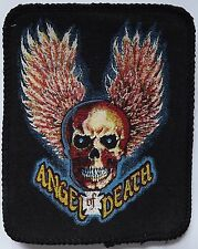 ANGEL OF DEATH Vtg 1980`s Printed Sew On Patch Biker Chopper Harley Motorcycle