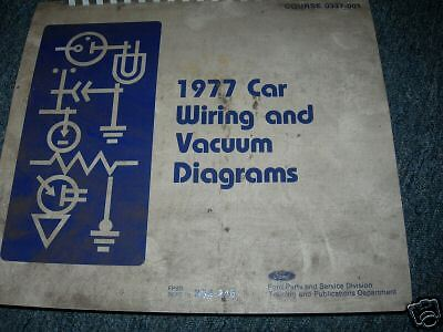 1977 LINCOLN CONTINENTAL OVERSIZED WIRING DIAGRAMS MANUAL SHEETS SET