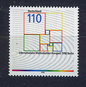 ALEMANIA-RFA-WEST-GERMANY-1998-MNH-SC-2010-Congress-of-mathematician