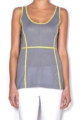 Christopher Fischer Josephine Tank Grey Mist Zest 100/% Cashmere Top Shirt NEW