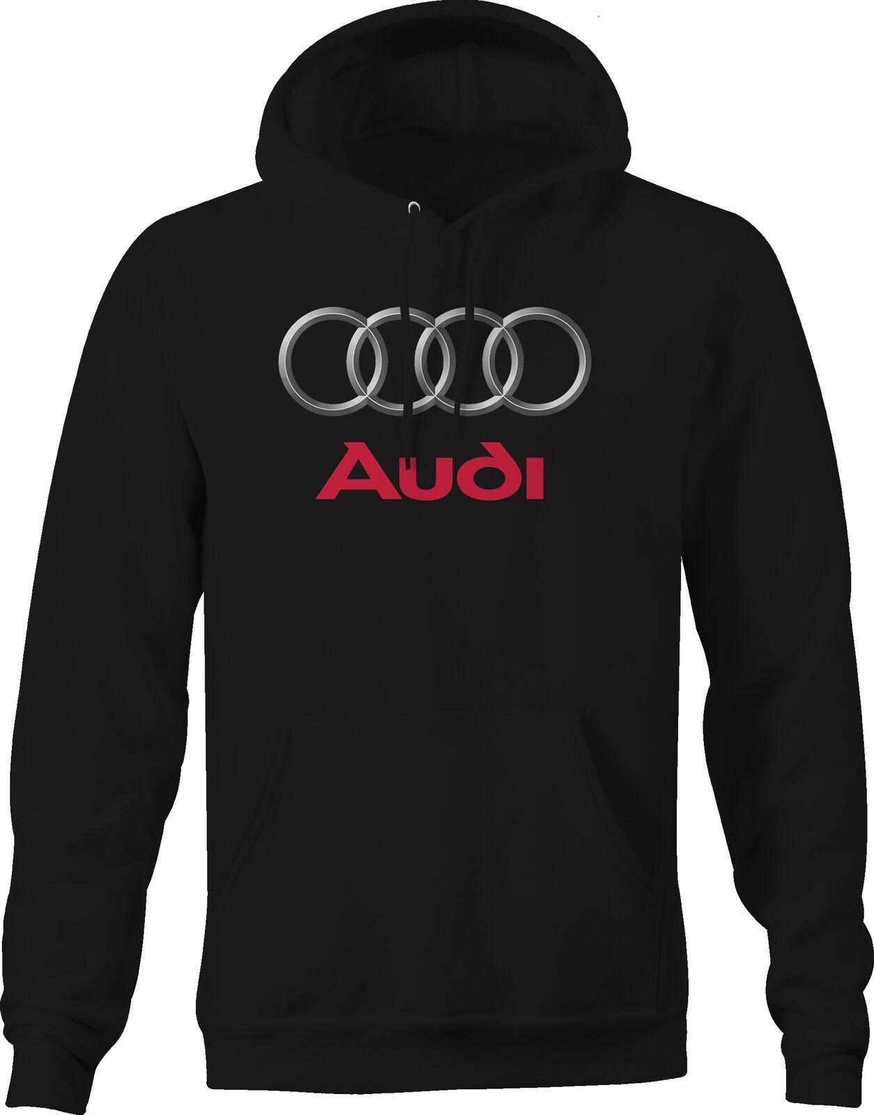 Audi Rings Emblem Logo Hoodies for Men