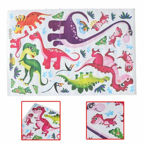 Playful Animados Dinosaurios Coloridas Calcomanías de Pared Calcomanía Decoración para cuarto de niños PPG