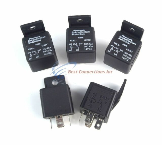 Audiopipe 12 Volt 5 Pin SPDT 30 - 40 Amp Relay Socket Auto Car Truck on