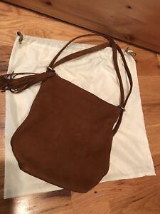 HOBO-The-Original-Vintage-LEATHER-Backpack-TOTE-Bag-In-Tobacco