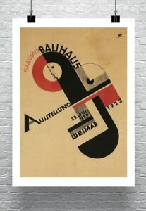 Bauhaus-Exhibition-1923-Vintage-Poster-Rolled-Canvas-Giclee-Print-24x32-in