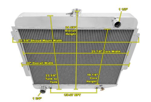 3 Row All Aluminum Alliant Radiator CC1640