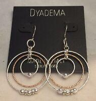 Gorgeous Dyadema Italy Sterling Silver Multi Wire Twirl Earrings