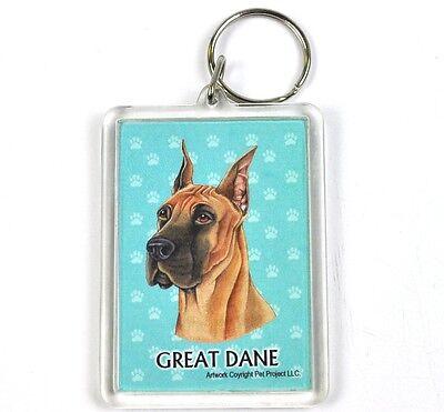 Süßer Hunde Usa Schlüsselanhänger - Deutsche Dogge - Great Dane BüGeln Nicht