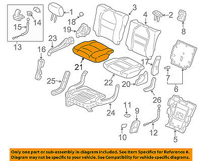 Right Rear Honda Genuine 82131-S9V-A01ZA Seat Cushion Trim Cover