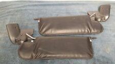 Sun visors black vinyl 87-93 Mustang LX GT Convertible pair set LH RH