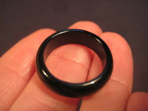 Black Agate Ancestral Healing ring size 6