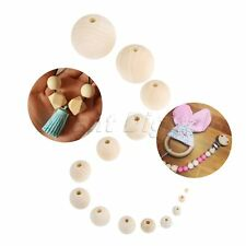 660Pcs Round Wood Spacer Strip Wooden Beads DIY Craft Jewelry Bracelet 6,8,10mm