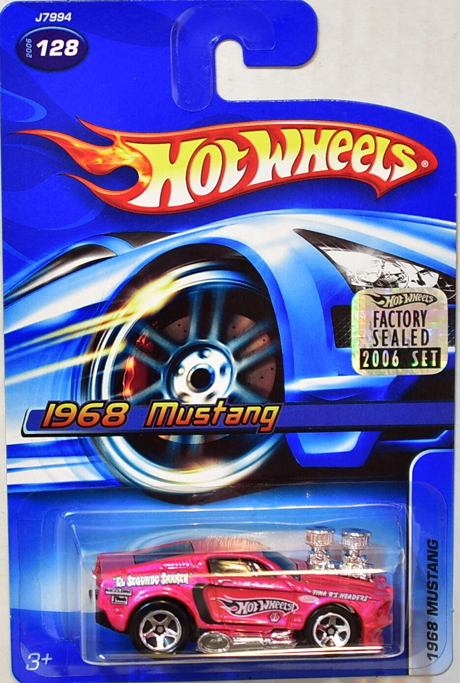 Hot Wheels 2006 1968 Mustang Mustang 1968 #128 Rose Emballage D'Origine 047159