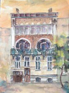 Details Zu Hotel Ciamberlani In Brussel Jugendstil Art Deco Haus Frankreich Mischtechnik