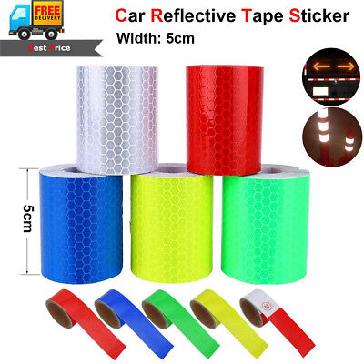 Car Truck Body Reflective Warning Conspicuity Roll Tape Film Sticker Decal 300cm