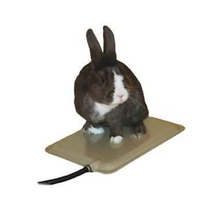 "KH Mfg Small Animal Ferret Cat Rabbit Heated Pad 9"" x 12"" WITH Fleece Cover"