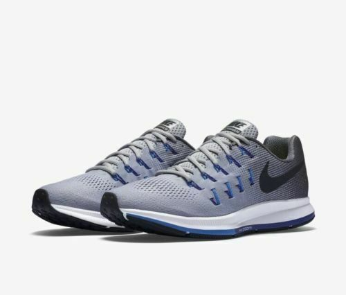 5a966be963f13 Nike Air Zoom Pegasus 33 Mens 831352-004 Grey Blue Mesh Running Shoes Size  8.5 for sale online | eBay