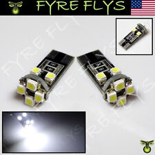 2 White 8 LED Canbus Error Free License Plate Lights Bulbs T10 168 194 2825 b#Y4