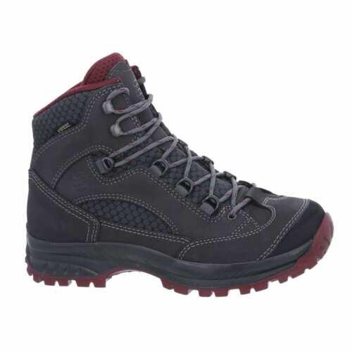 Hanwag Womens Banks II Lady GTX Boots Asphalt//Dark Garnet