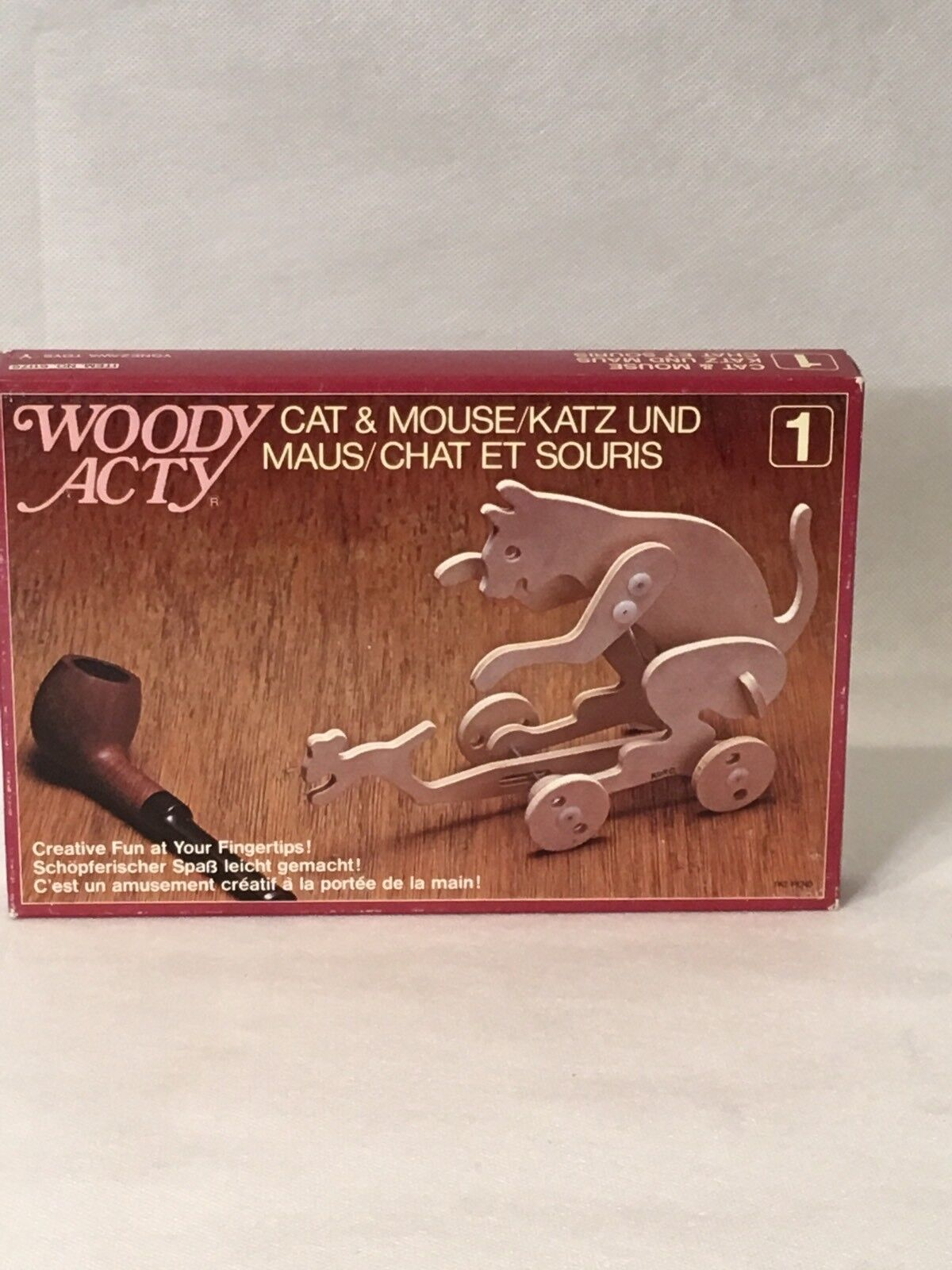 Woody Acty Cat Cat Cat & Mouse Designed By Kohsuke Kuroda Made In Japan e197d9
