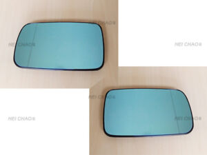PAIR OF M-BENZ 94~00 W202 C-CLASS HEATED BLIND SPOT MIRROR GLASS+BASE LEFT+RIGHT