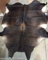 Safavieh Cowhide Dark Brown Area Rug 155x210cm