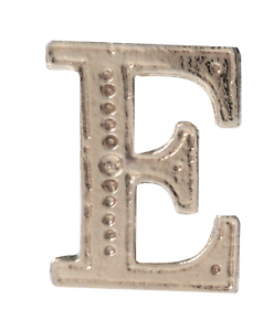 Letter E Nickel-Plated Orange Order Collarette Character