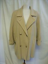 Ladies Coat St.Michael camel/beige pure wool, UK 14, slight bat wings, 0364