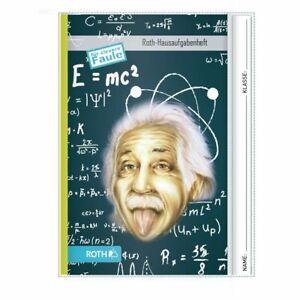 """ROTH Hausaufgabenheft Teens für clevere Faule """"Einstein"""" für Kinder Jugendliche"""