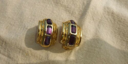 AUTHENTIC BURBERRYS RUNWAY AMETHYST LARGE CLIP ON