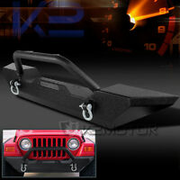 1987-2006 Jeep Wrangler Yj/tj Black Front Offroad Bumper Guard+winch Plate on Sale