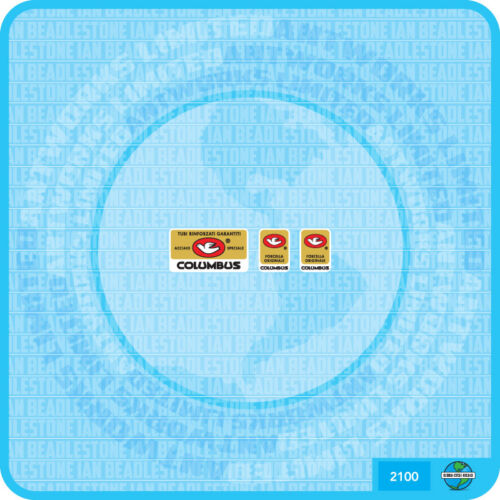 Set 100 Columbus GOLD Bicycle Decal Transfer Sticker