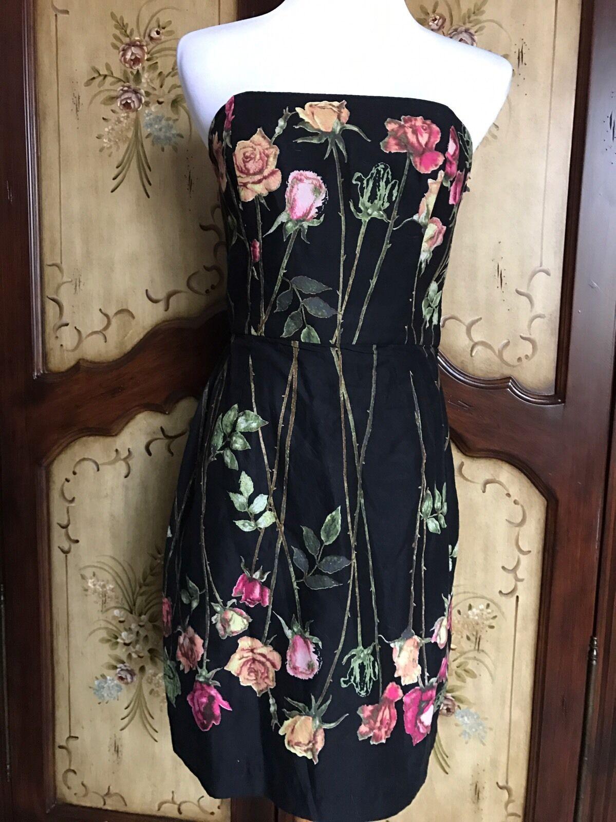Betsey Johnson Midnight Floral Sheath Dress