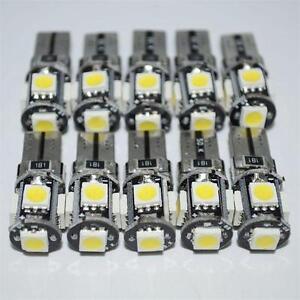 10x-T10-Car-Side-Wedge-Bulb-light-Canbus-Error-Free-5SMD-LED-168-194-W5W-White
