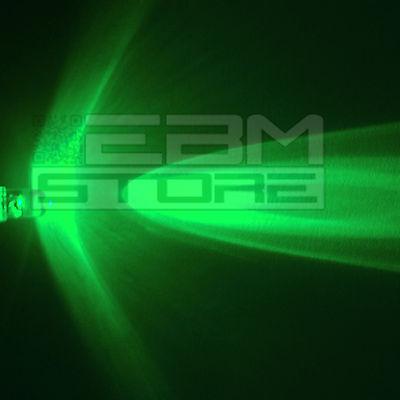 10 pz led verdi 5 mm alta luminosità 15.000 mcd - ART. AM01