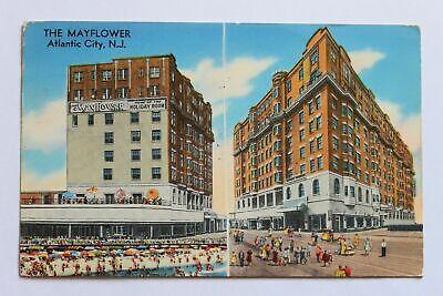 Undated Unused Postcard Mayflower Hotel and Motel Atlantic