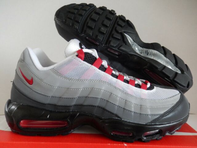 online store 00ce9 6befc NIKE AIR MAX 95 ID GREY-WHITE-BLACK-HOT RED SZ 12