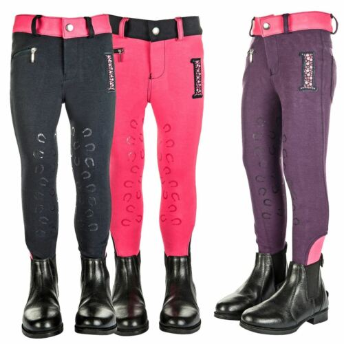 Little Sister Junior Champ Silicone Knee Patch Elastic Comfort Riding Breeches