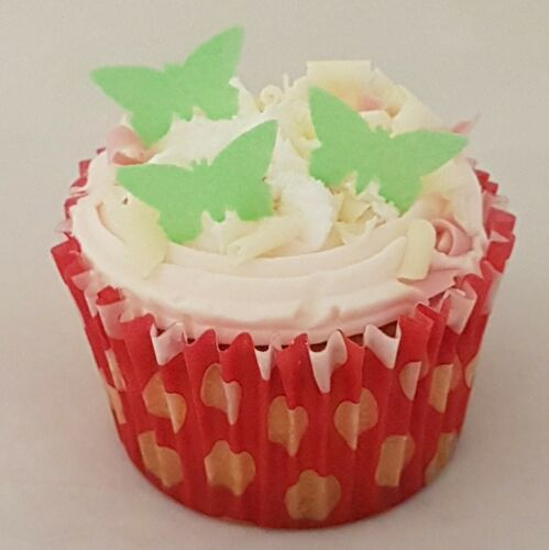 24 x mini edible butterflies wafer rice paper cupcake decoration toppers various