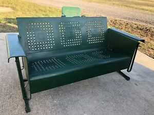 Vintage Metal Front Porch Glider Swing