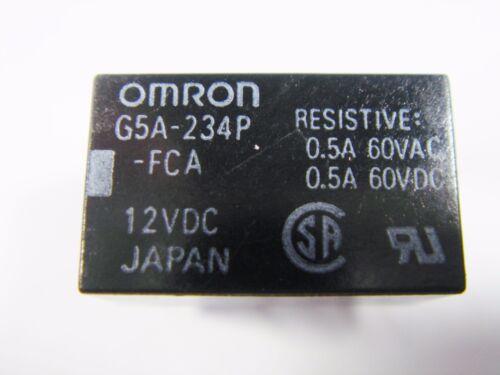 Relais 12V 2xUM 125V 2A OMRON G5A-234P-FCA 12VDC Gold #11R101/%
