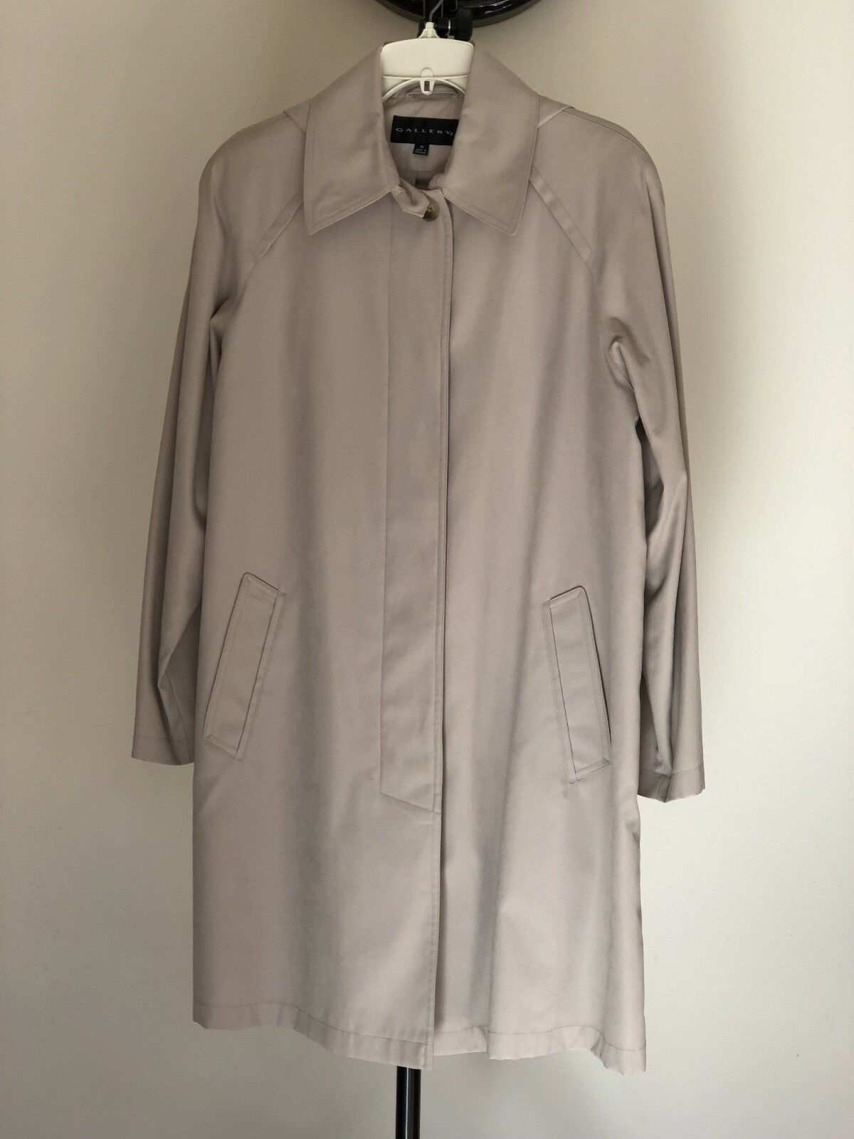 Women's Gallery Trench Coat Coat Coat Hooded Lined, Size M 9a08e1