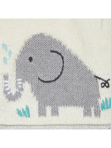 Cream 6-12 Months Brand New Free P/&P John Lewis Baby Elephant and Friends Hat
