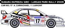 DECALS 1/43 SUBARU IMPREZA WRC #17 - CARMICHAEL -RALLYE LURGAN PARK 2009- D43197