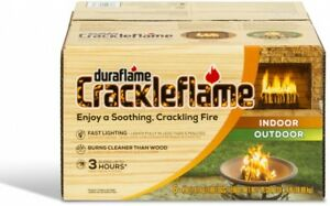 Details about Duraflame Fire Logs 3 Hour Burn Time Natural Wood Crackling  Sound 4 lb 6 Packs