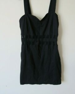 Lipsy-Motel-rock-Dress-Black-Bodycon-Size-M