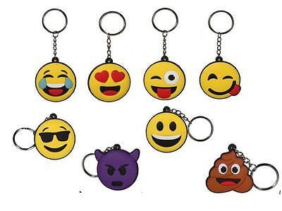 Emoji Keyrings Love Kiss Wink Devil Poop face Emoticon christmas stockings Gift