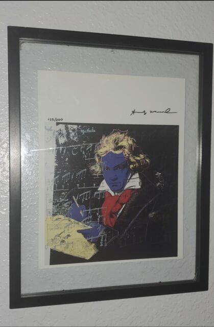 Andy warhol hand signed original print certificate COA $3450 year 1986